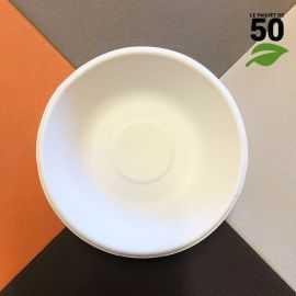 Coupelle plate 68cl Biodégradable Par 50