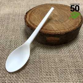 Cuillère dessert Bio CPLA Blanc x 50