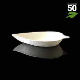 Verrine biodégradable feuille. Par 50