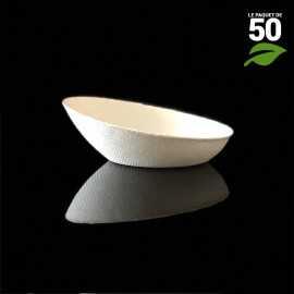Verrine biodégradable ovale biseautée. Par 50