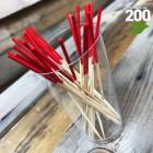 Pic bambou rouge 9cm verrines apéritives. Par 200