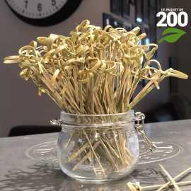 Pics brochettes bambou 12cm verrines apéritives. Par 200