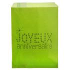 24 Sacs papier à bonbons anniversaire vert