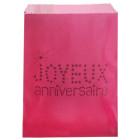 24 Sacs papier à bonbons anniversaire fuchsia
