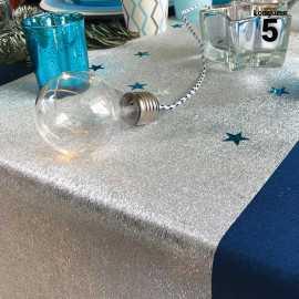Chemin de table papier filament argent. 5 mètres