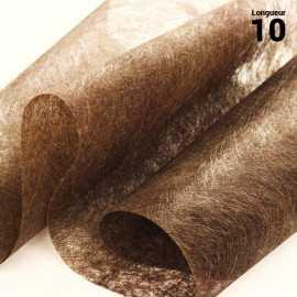 Chemins de table romance intissé chocolat 10 mètres