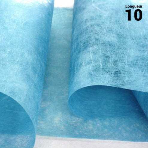 Chemins de table romance intissé turquoise 10 mètres