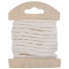 Cordon en laine déco blanc 3 mètres