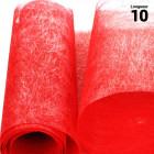 Chemins de table romance intissé rouge 10 mètres