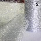 Chemins de table glitter pailleté Argent. 5 mètres