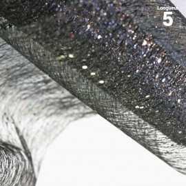 Chemins de table glitter pailleté noir. 5 mètres