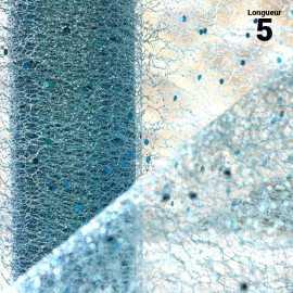 Chemins de table glitter pailleté turquoise. 5 mètres