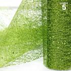 Chemins de table glitter pailleté vert. 5 mètres