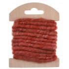 Cordon en laine déco rouge 3 mètres