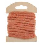 Cordon en laine déco corail 3 mètres