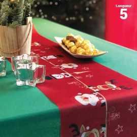Chemin de table la famille Noël 5 mètres