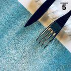 Chemin de table papier filament bleu. 5 mètres