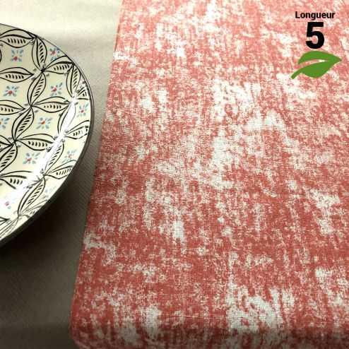 Chemin de table coton pastel rouge 5 mètres