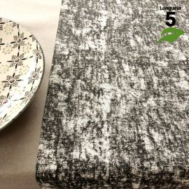 Chemin de table coton pastel noir 5 mètres