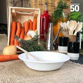 Coupelle plate 46 cl Biodégradable Par 50