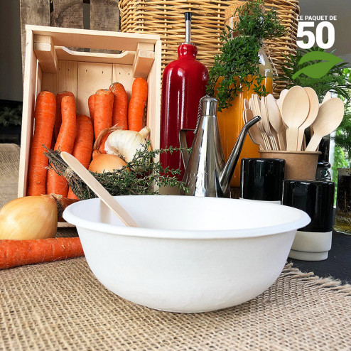 Coupelle creuse 85cl Biodégradable Par 50