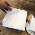 100 serviettes papier blanc 39cm x 39 cm 2 plis
