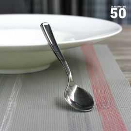 Cuillères dessert façon inox. Recyclables - réutilisables. Par 50
