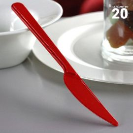 Couteau en plastique style rouge