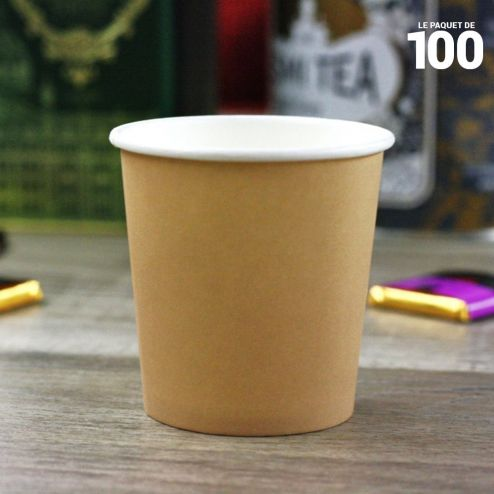 Gobelets carton esprit kraft 10/12 cl . Par 100