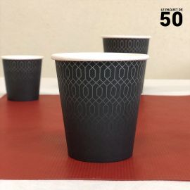 Gobelet carton graphite 21 cl. Par 50.