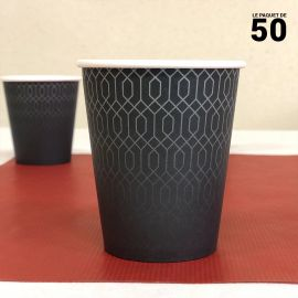 Gobelet carton graphite 24 cl. Par 50.