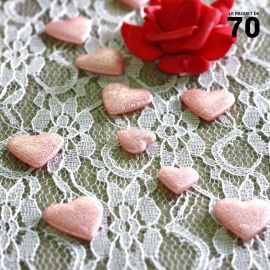 Confettis de table coeur Roses