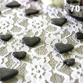 Confettis de table coeur Noirs
