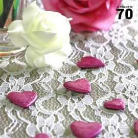 Confettis de table cœur Fuchsia