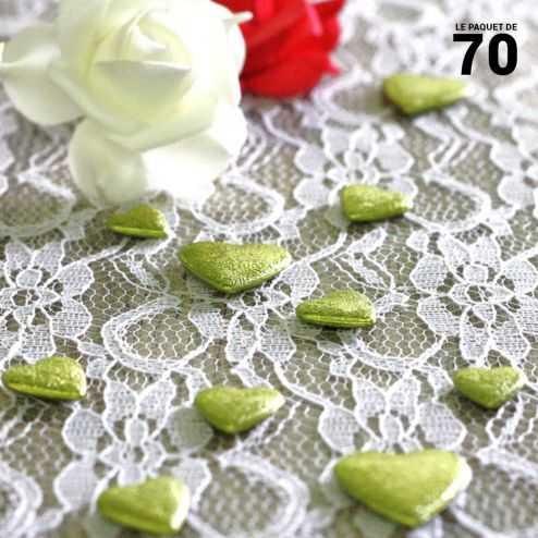 Confettis de table coeur Vert