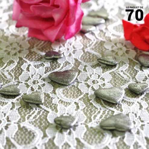 Confettis de table coeur Gris