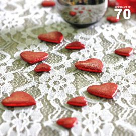 Confettis de table coeur Rouges