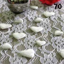Confettis de table coeur Blanc