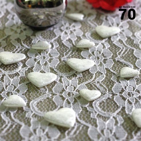 Confettis de table coeur Blanc