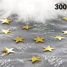 Confettis étoiles holographiques or