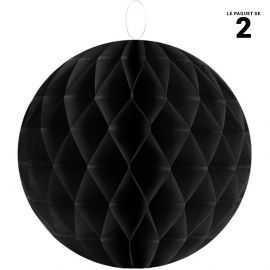 Boule décorative en papier noire 30 cm