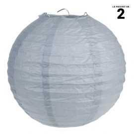 Lanternes en papier grise 30 cm.