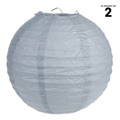 Lanternes en papier grise 30 cm