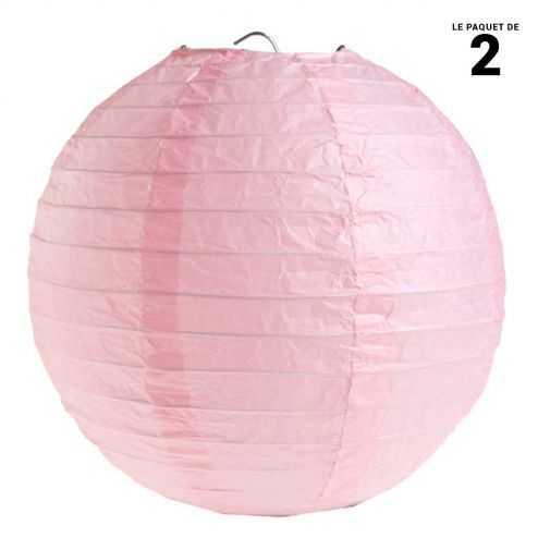 Lanterne en papier rose 30 cm