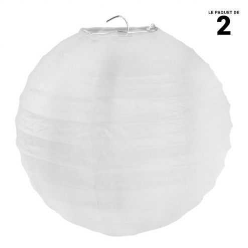 Lanterne en papier blanche 30 cm