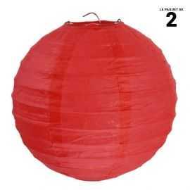 Lanterne en papier rouge 30 cm