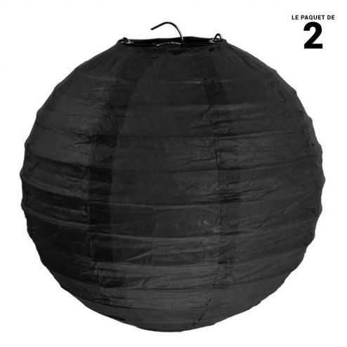 Lanterne en papier noire 30 cm