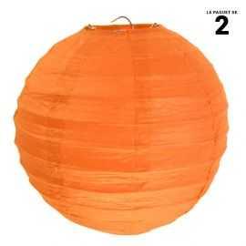 Lanterne en papier orange 30 cm.