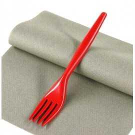 """Fourchettes plastique """"Style"""" Grises"""
