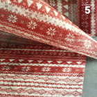 Chemins de table tradition Noël rouge 5 mètres